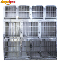 Shernbao KA-508 Luxury Stainless Steel Cat Cage Modular Vet Pet Cages for Pet Shop