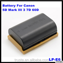 7.4V 1800mAh 2000mAh 2500mAh LP-E6 Rechargeable Camera Battery Pack for Canon EOS 5D Mark II /EOS 7D/EOS 60D/EOS 5D Mark3