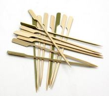 Rotating BBQ bamboo flat wooden skewers