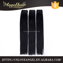 Direct factory wholesale price large stock custom 28 inch 1# color peruvian straight human hair