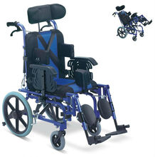 Best sell manual aluminium folding Cerebral Palsy/Reclining/Disabled Wheelchair for disabled people CE,ISO,TUV