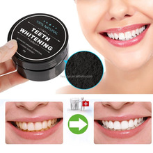 Factory Wholesale coconut charcoal powder to whitening teeth 30g per box
