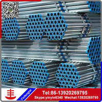 building material/hollow tube/metal/ERW Q345 Q235B ERW black round hot rolled galvanized steel pipe/tube