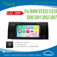 "7"" A9 Wince 6.0 Car Navigation for BMW 5-E39/BMW X5-E53 with Gps Navi,3G,Wifi,Bluetooth,Ipod Support DVR"