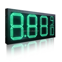 electronic billboards led fuel price sign 7 segment petrol station price signs