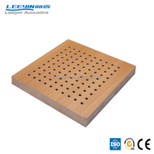 Hot sales perforated acoustic insulating mdf sound absorbing board for theater