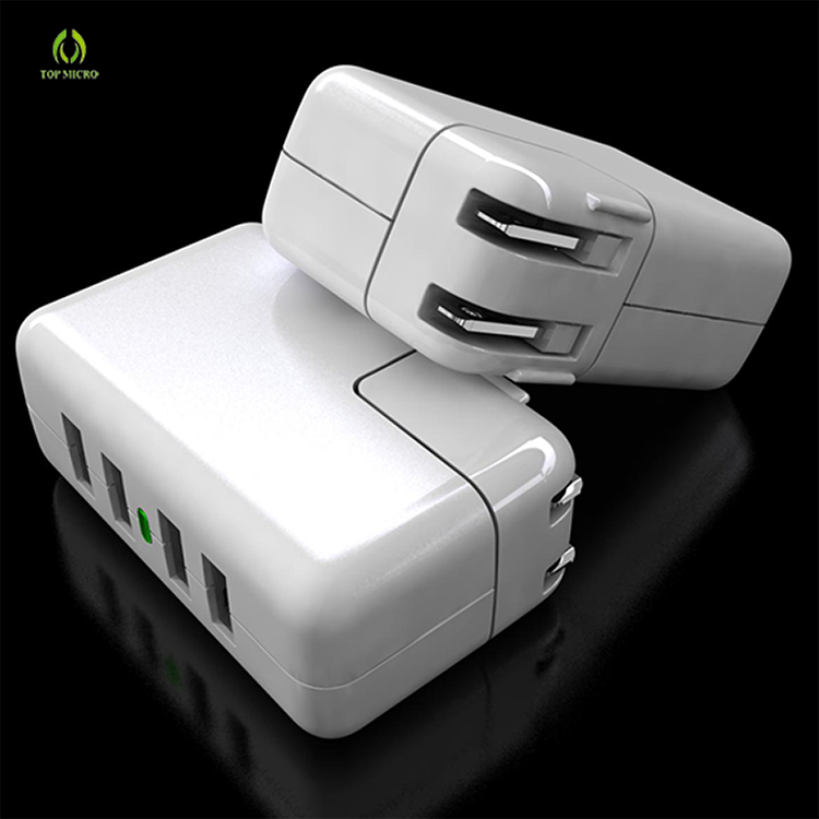 Wholesales US EU UK Socket Multi 4 USB Port Adapter Phone Charger Station