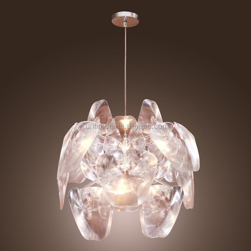 Modern 1-light Artistic Acrylic Pendant Light Ceiling Light Fixture fit for Game Room Dining Room
