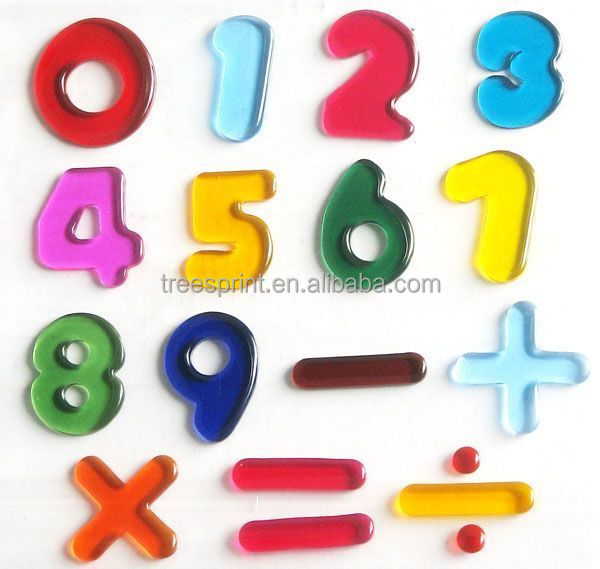 Wholesale high quality customize alphabet gel sticker on promotion