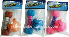 Wholesale Vinyl Dog Toys Soft Squeaky Bone And Ball Vinyl teeth Toy for Dog