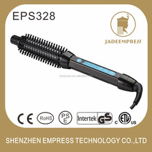 Professional customized hair brush set/ceramic led hair curling brush with temperature control EPS328