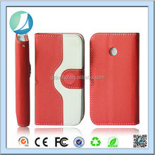 Promotion price cute design flip Wallet Case For Huawei ascend P6