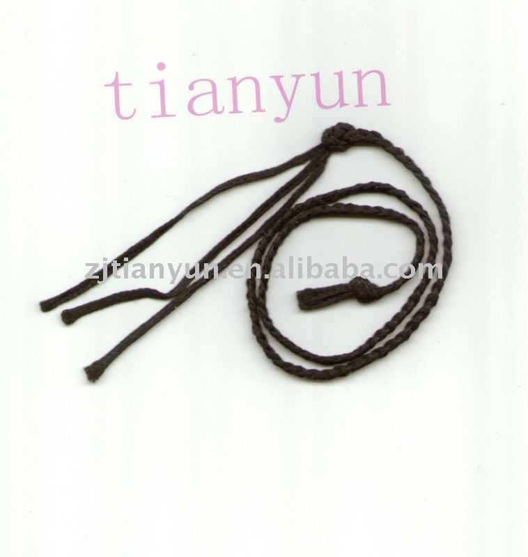 polyester double waxed braided thread cord