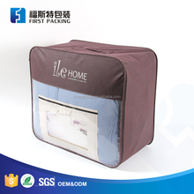Customized flannel blanket bag for bedding packing