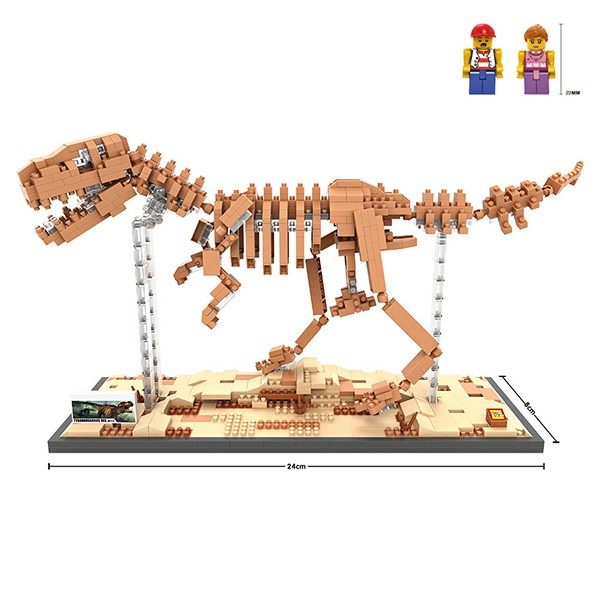 LOZ block mini building block brick toy plastic dinosaurs fossil of mosasaurus 9024