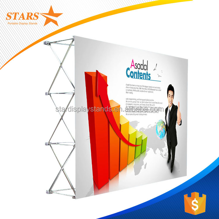 Top Quality Display Standee Aluminium , Fabric Pop Up Display for Christmas