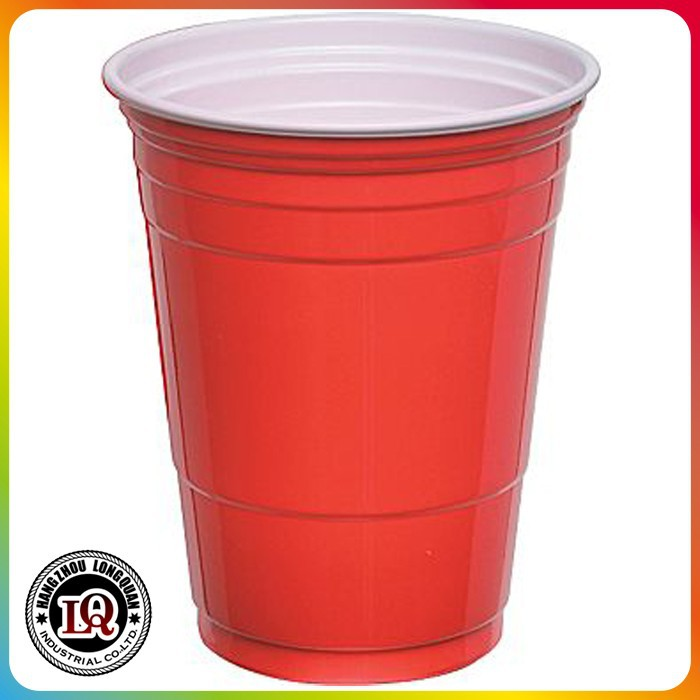 Disposable Plastic PS Solo Beer Pong Red Cup