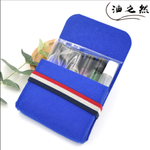 Wholesale shockproof protable Colorful eco-friendly Felt fabric cosmetic bag Environmental protection material essential oil bag