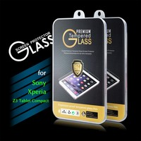 2016 New Arrival 9H 0.3mm 2.5D Premium Tempered Glass Screen Protector Film for Sony Xperia Z3 Tablet Compact