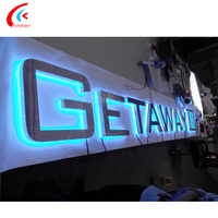 Wholesale digital sign stainless steel backlit letter programmable led sign
