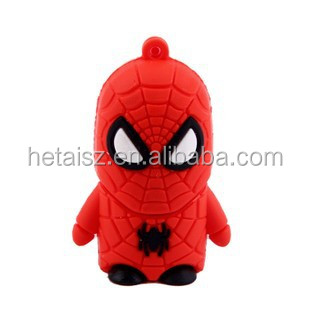 Spider Man cartoon USB drives/spider-man memory stick/gift pen drive