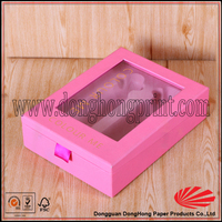 High PVC window perfume oil cardboard box