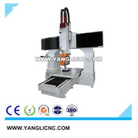 5 axis China advanced Economical aluminum CNC milling machine wood machining center with CE Certification for wood stone metal
