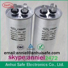 ac motor run CBB65 air conditioner capacitor 50uf 370V 450V 550V 60uf 40uf 35uf 30uf 25uf 20uf 10uf