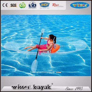 Factory supplier plastic kayak/transparent rowing boat/fishing boat made in China