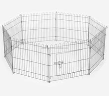 Pet Dog Playpen Puppy Cage 8 Panel Metal Fence Run Garden Frame Black