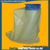 yellow CPE embossed boot cover