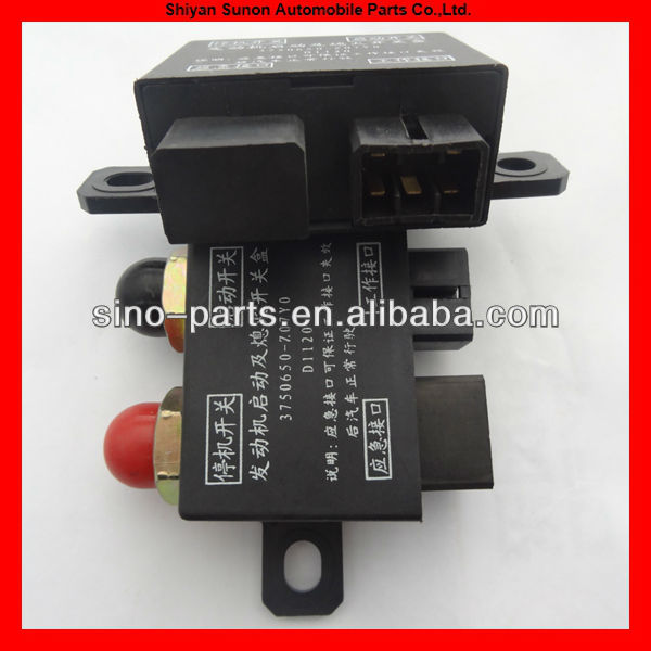 Dongfeng Truck Parts Dongfeng electrical start stop switch 3750650-Z07Y0