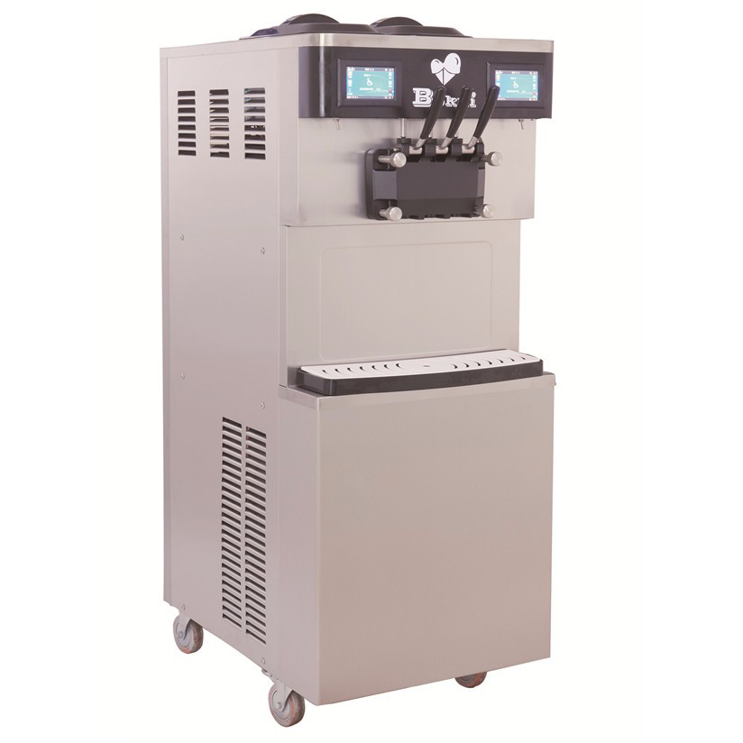 BKN-S82 wholesale high efficiency dual system ice cream machine for sale with air pump