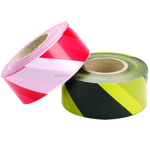 Factory Price 500 Meter non Adhesive PE Warning Red White Barrier Tape