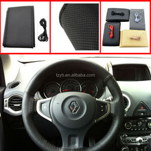 3 Sizes 4 Colors High quality Genuine Cowhide Leather Steering Wheel Cover
