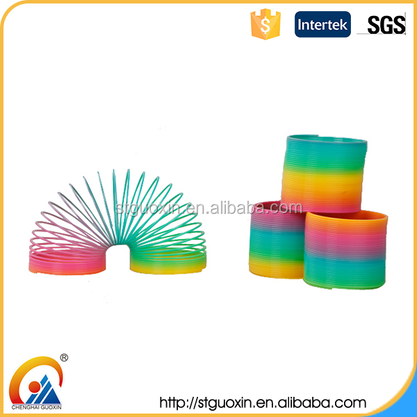 Colorful classic promotional colorful coil shaped innovative toys for children for children