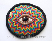 2015 applique embroidery eyes