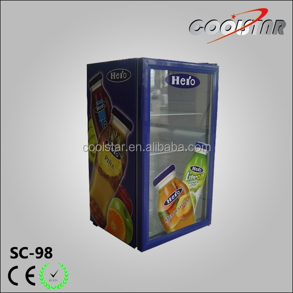 Single glass door can storage refrigerator display equipment
