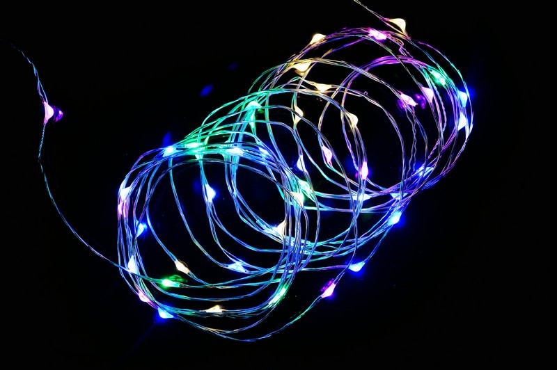 LED String Light 10m 100leds Copper Wire Fairy Lights with 1A Power Adapter Christmas New Year Wedding Decoration Lights