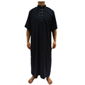 new style islamic clothing muslim ikaf short sleeve jalabiya for men