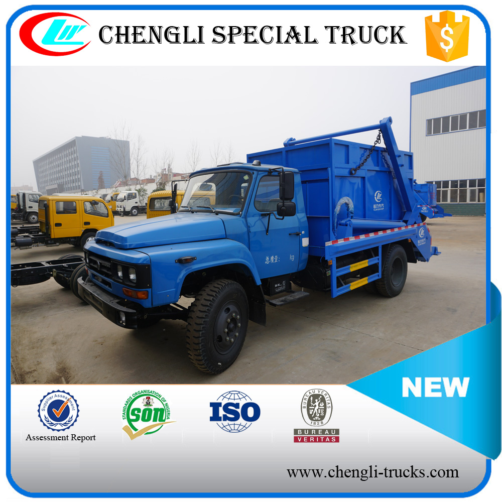 DONGFENG 160hp 4*2 8M3 Rear Bucket Loader Garbage Truck Swing Arm Garbage Truck