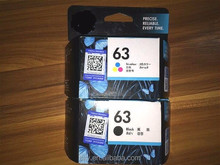 original ink cartridge for HP 63 ink color 63 in black printer cartridge