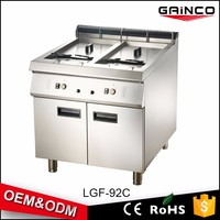 OEM combination oven professional catering equipment gas fryer double commercial gas deep fryer with 2 tanks