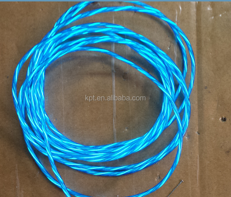14 year factory whole sale 3mm chasing EL wire, multi color chasing flowing water el rope light