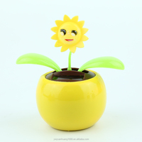 baby toys solar powered swing flip flap dancing apple flowers, car decorative gift sun doll factory wholesale