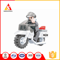 Hot sale funny plastic toys building block small toy motorcycles
