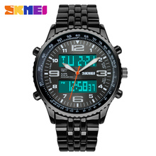China supplier skmei alloy digital quartz wrist watch shop mens luxury watches 3atm