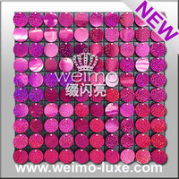 2016 New Products Shiny Sequin Disc PVC Wall Board