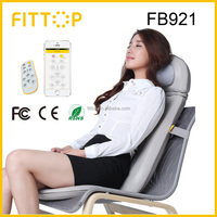 Fittop electric car seat chair massager, electronic massage cushion for neck back waist buttock