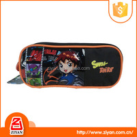 2016 new style two zipper pencil case with compartments for boys